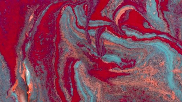 Peinture acrylique abstraite vue de dessus