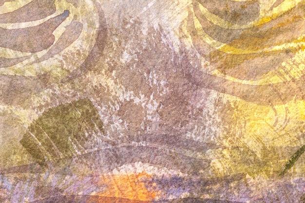 Peinture à l'aquarelle sur toile avec dégradé beige