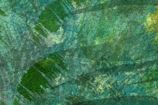 Peinture à l'aquarelle sur toile avec émeraude douce