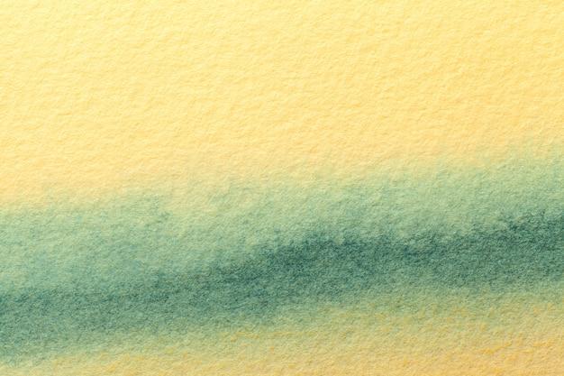 Peinture à l'aquarelle sur toile avec vagues cyan et dégradé