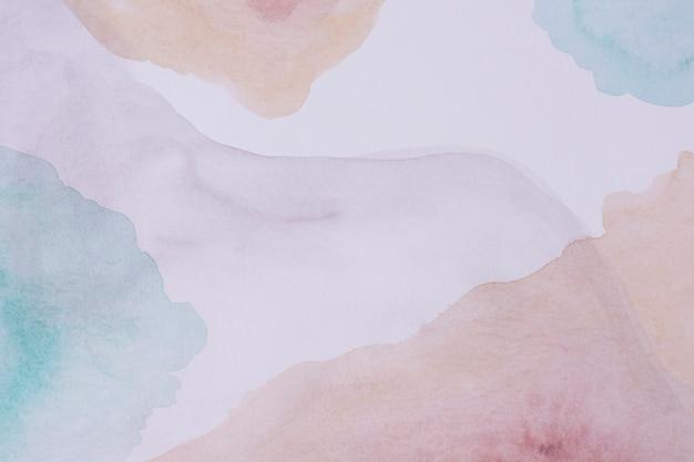 Peinture aquarelle vue de dessus sur papier
