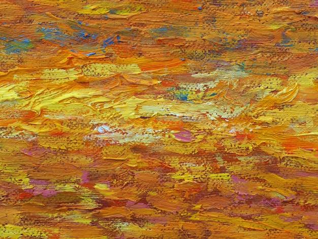 Peinture d'art abstrait sur fond de toile avec texture