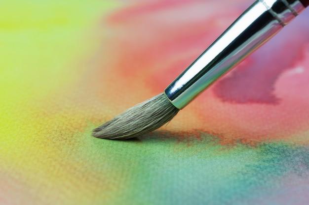 Peinture au pinceau couleur pastel sur papier canevas ou blanc