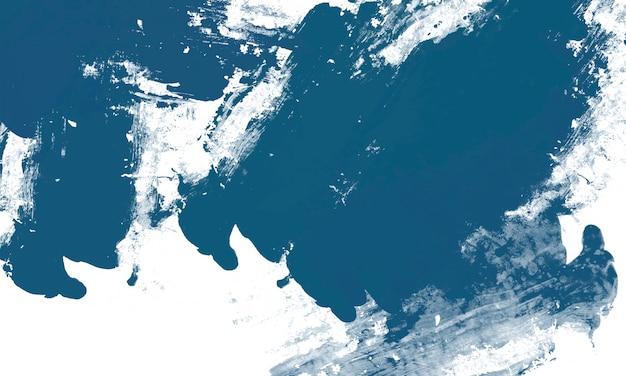 Peinture blanche sur fond bleu