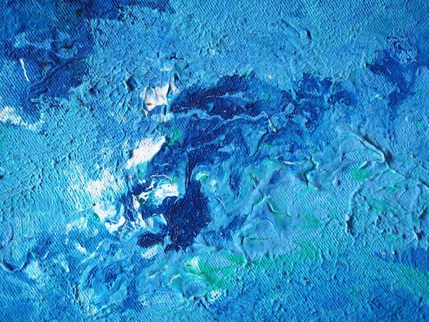 Peinture bleue abstrait naturel et la texture.