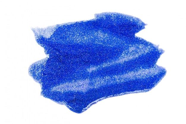 Peinture bleue sur blanc