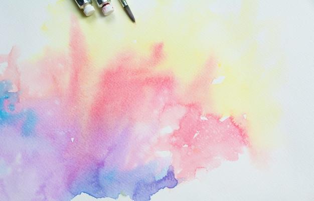 Peinture colorée de l'eau abstraite. couleur pastel sur toile.