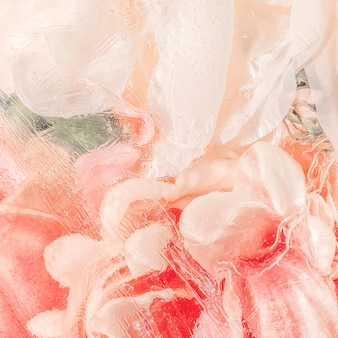 Peinture de conception de fleur rose aquarelle abstraite