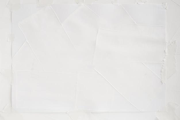 Peinture de couleur blanche sur des arrière-plans d'art de texture de papier
