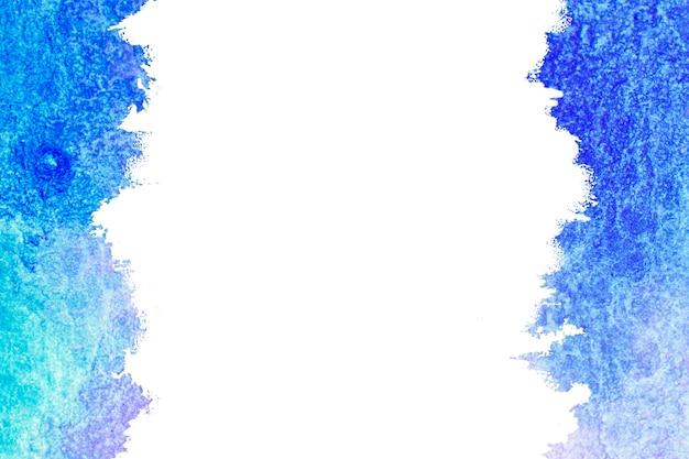 Peinture de couleur bleue abstraite. fond et cadre de coup de pinceau bleu.