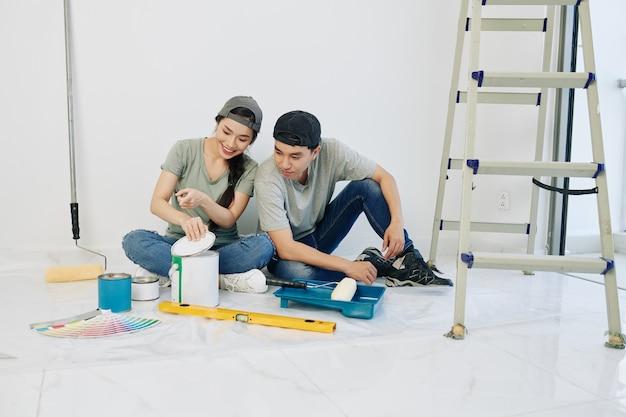 Peinture couleur ouverture couple