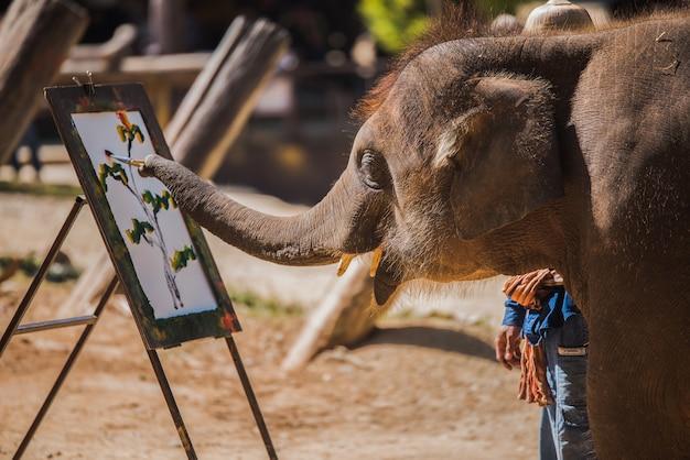 Peinture d'éléphant