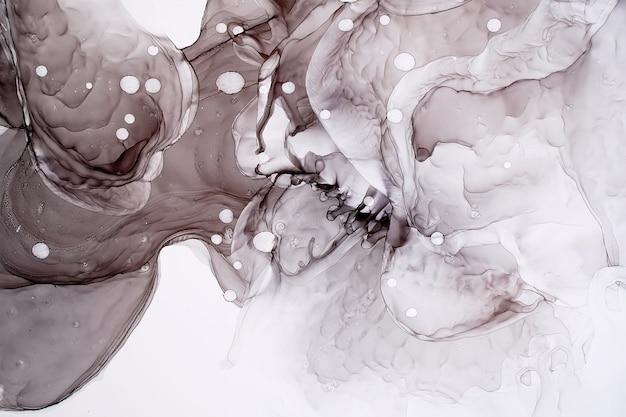 Peinture à l'encre à l'alcool gris