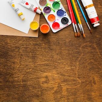 Peinture de l'espace copie à plat