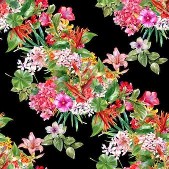 Peinture florale aquarelle