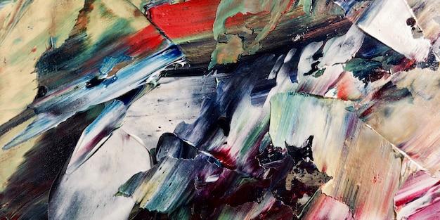 Peinture à l'huile abstraite colorée sur toile