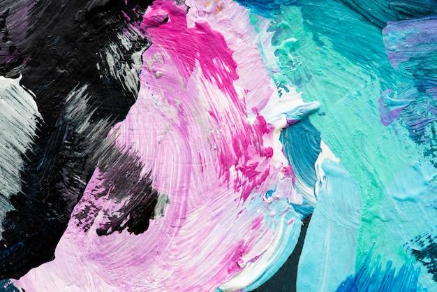 Peinture à l'huile abstraite texturée