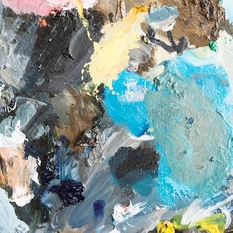 Peinture à l'huile artistique multicolore abstraite texturée