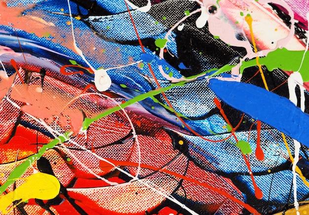 Peinture à l'huile colorée multi couleurs abstrait.