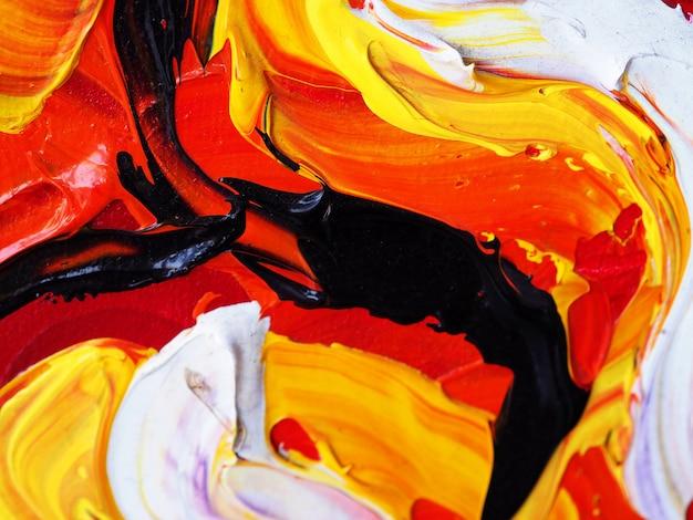 Peinture à l'huile dessinée à la main