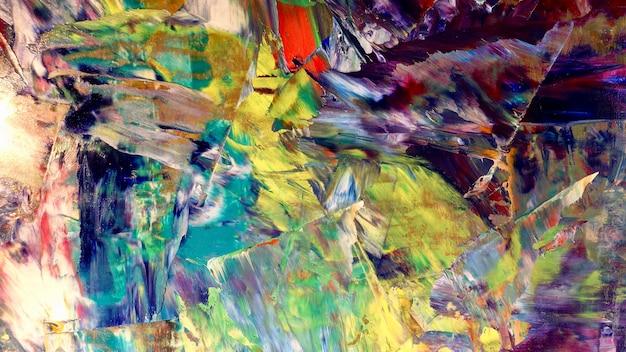 Peinture à l'huile de fond abstrait coloré sur toile