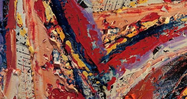 Peinture à l'huile sur fond abstrait de toile avec texture.