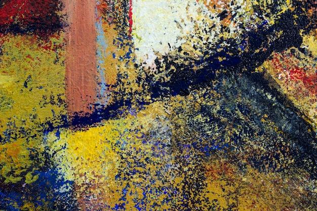 Peinture à l'huile de fond d'art abstrait sur la texture lumineuse multicolore de toile