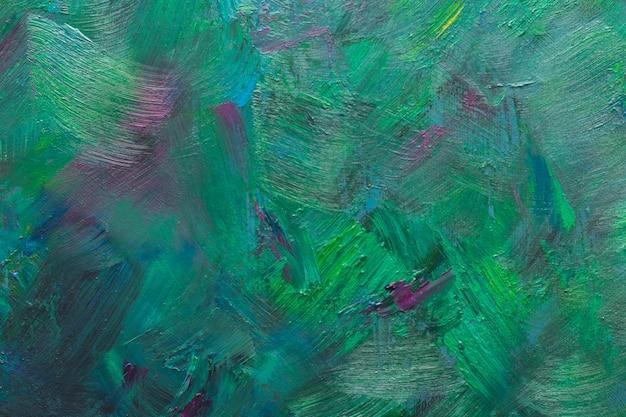 Peinture à l'huile de fond vert