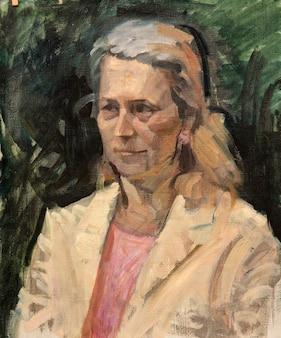 Peinture à l'huile, portrait, dessin à la main