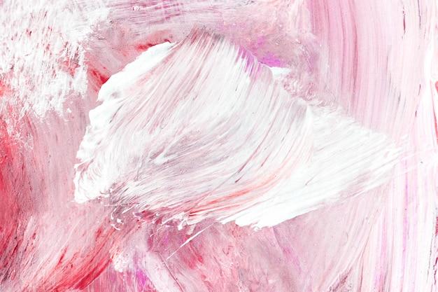 Peinture à l'huile texturée rose