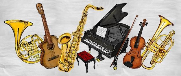 Peinture instruments de musique