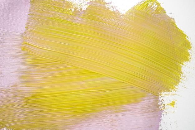 Peinture Jaune Et Rose Sur Le Mur Photo gratuit