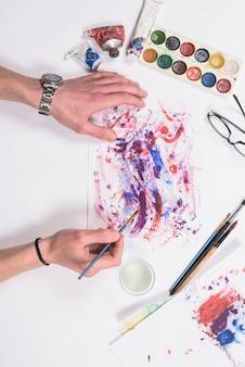 Peinture des mains