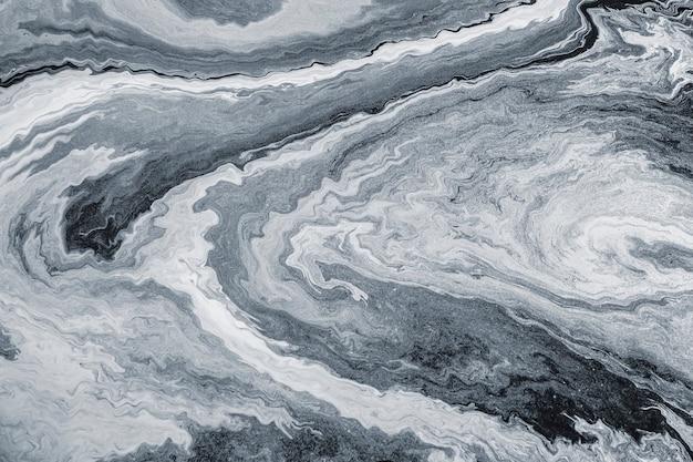 Peinture marbrée d'art fluide gris texturé
