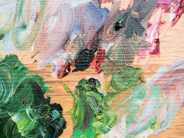 Peinture minimaliste artistique avec des traits de couleurs différentes