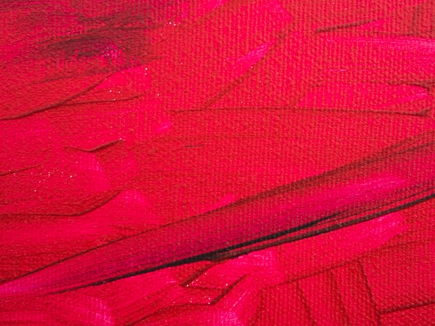 Peinture minimaliste sur fond rouge