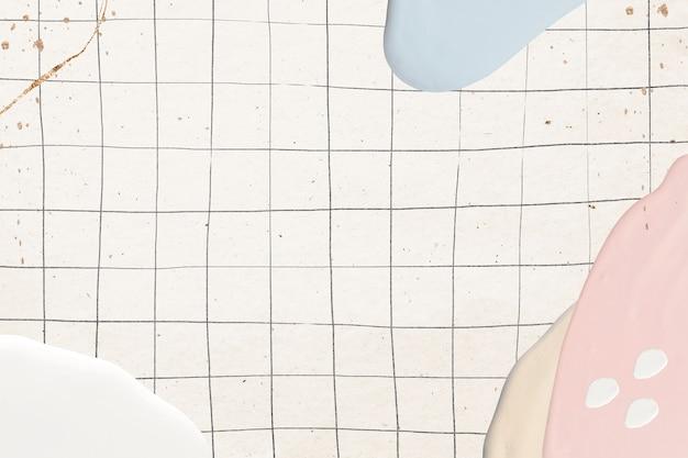 Peinture pastel abstraite sur grille