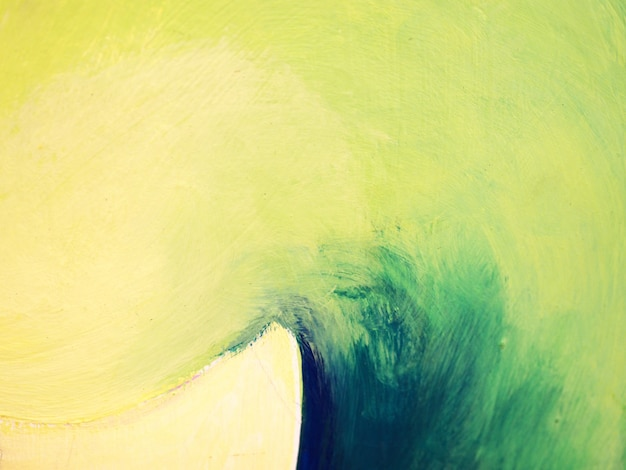 Peinture pinceau peinture à l'huile bleu coloré