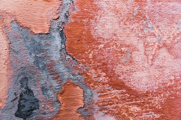 Peinture sur une surface de mur en béton brut