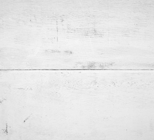 Peinture de table en bois avec fond de texture de couleur blanche