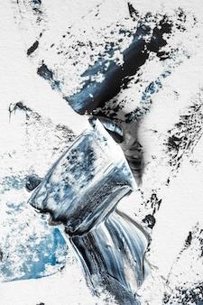 Peinture texturée crème sur l'oeuvre abstraite de fond transparent