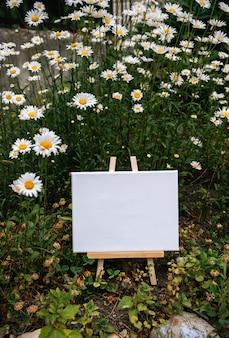 Peinture sur toile affiche modèle vide blanc