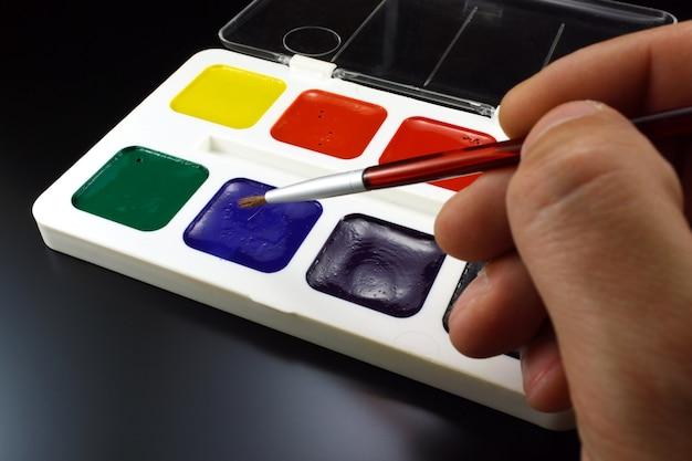 Peintures à l'eau pour le dessin