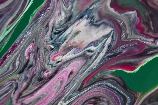 Peintures mixtes colorées, peinture abstraite coulée