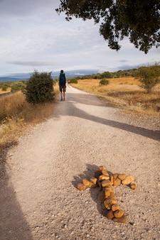 Pèlerin sur le chemin de saint-jacques