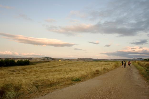 Pèlerins, chemin de saint-jacques