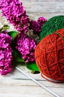 Pelotes de laine pour le tricot