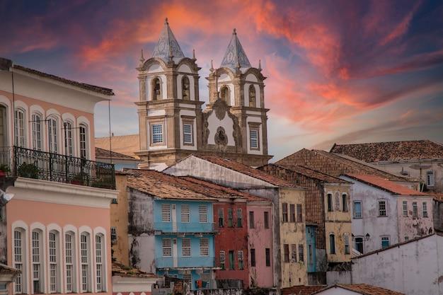 Pelourinho, centre historique de la ville de salvador bahia brésil.