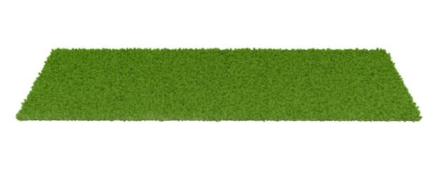 Pelouse verte sur fond blanc. illustration 3d