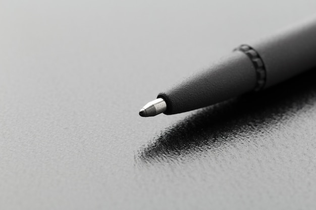 Pen close up shot